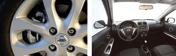 """As rodas da versão SV, topo de linha do novo Nissan March, são de liga leve de aro 15""""  / Os comandos de rádio no volante também só estão disponíveis na versão SV, que custa R$ 40.990"""