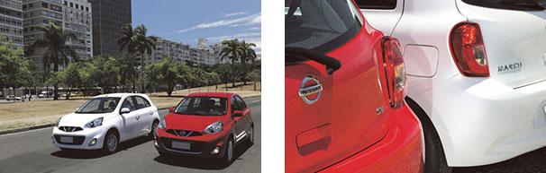 Apesar de evolução do conjunto motriz, o novo Nissan March 2015 não sofreu alterações na aparência
