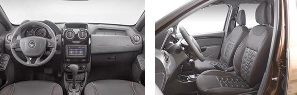O interior passa a ter melhor acabamento no modelo 2016, mas os comandos do sistema multimídia continuam sem apresentar a melhor ergonomia. É necessário tirar a mão direita do volante para ver os comandos do GPS, por exemplo
