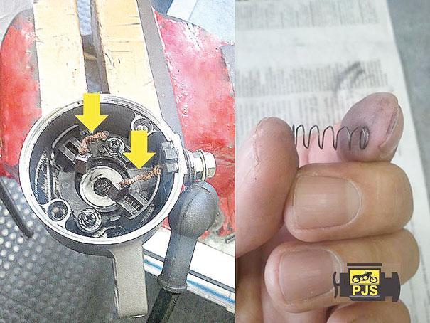 Escovas e mola do motor de partida 6142d4745655f
