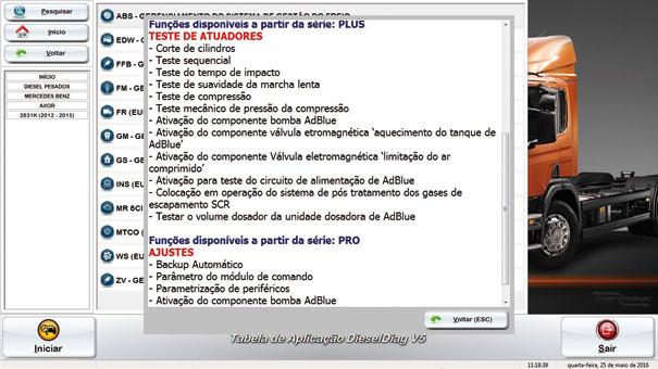Scanner Dieseldiag – Testes no sistema Arla/Adblue