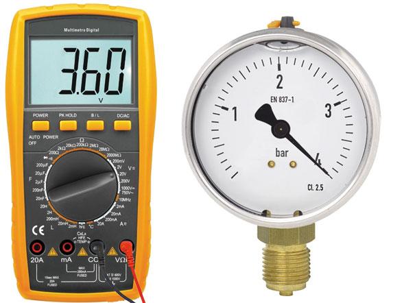 Testes com aparelhos de medição