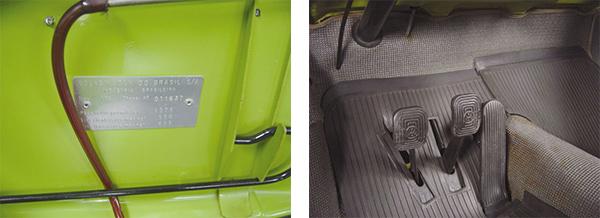 Atestado de originalidade pode ser comprovado pela plaqueta de identificação / Os pedais mantêm as borrachas originais da Volkswagen