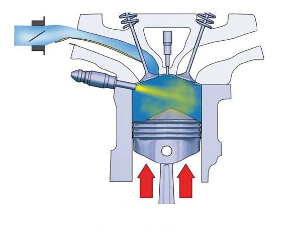 Foto 4 - Válvula do coletor de admissão fechada, promovendo uma turbulência na câmara de combustão e direcionando o fluxo de ae para próximo da vela