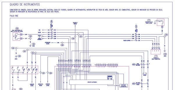 """Diagramas elétricos de diversos sistemas são encontrados na aba """"Manutenção Fácil""""."""