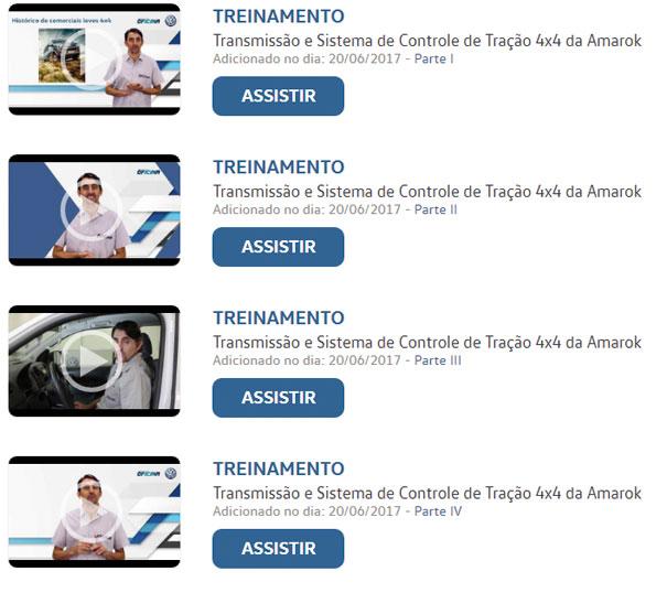 Treinamentos em vídeos dos mais variados temas.