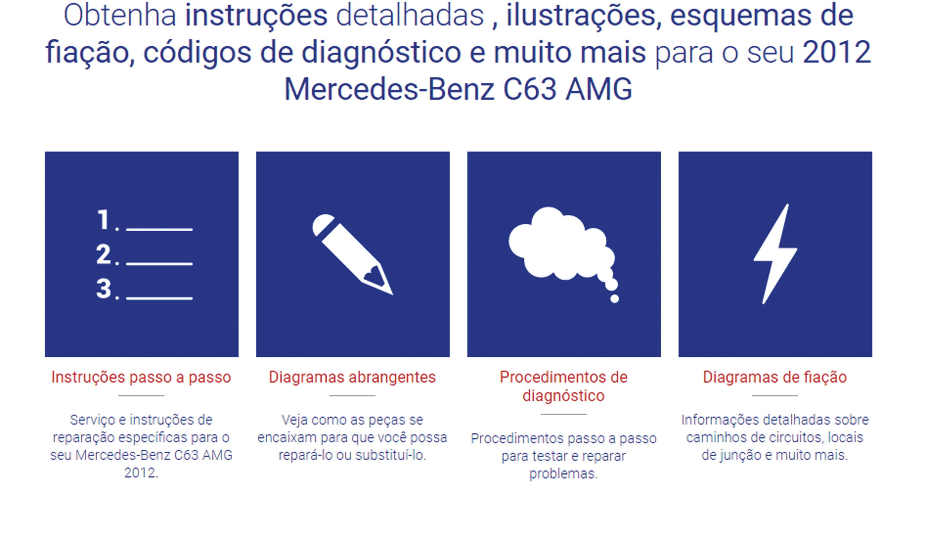 Figura 2-  Um exemplo de informações que podem ser obtidas para a Mercedes C63