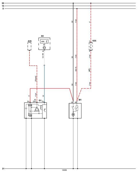(Diagrama elétrico - Golf 2.0 1995)