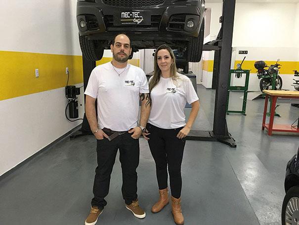 Fábio Alves Pereira e Camila Alves Pereira, diretor e coordenadora da Mec-Tec