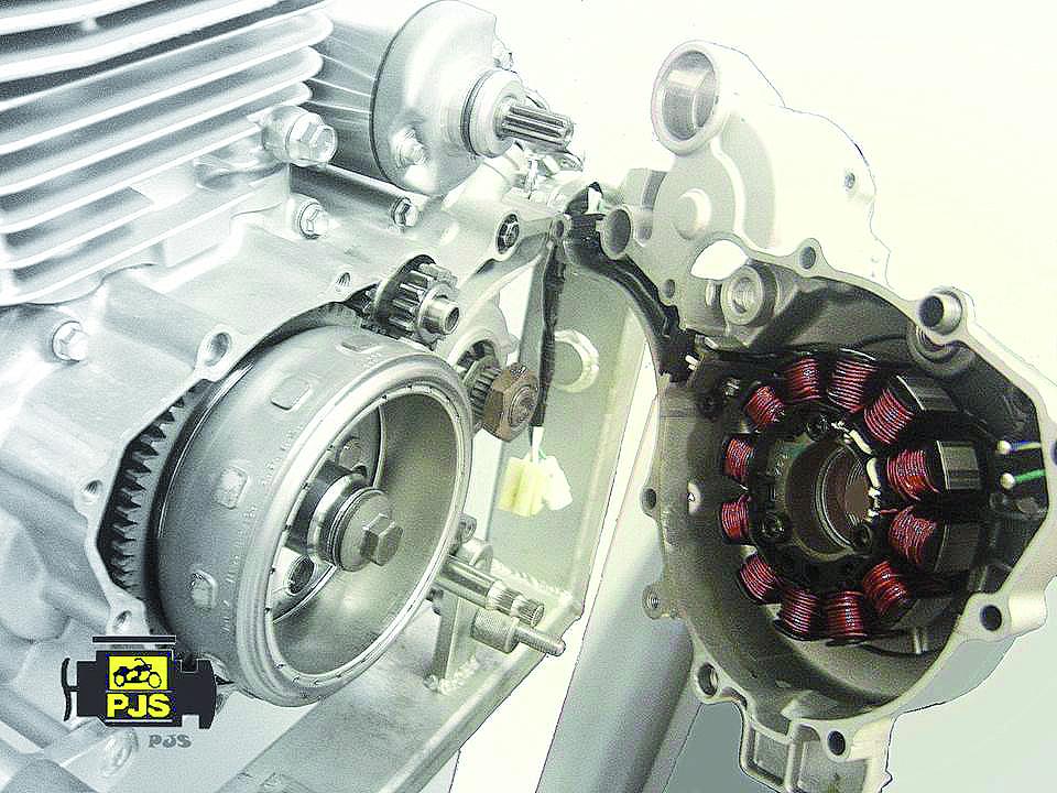 Vista lateral esquerda do motor – Fazer 250