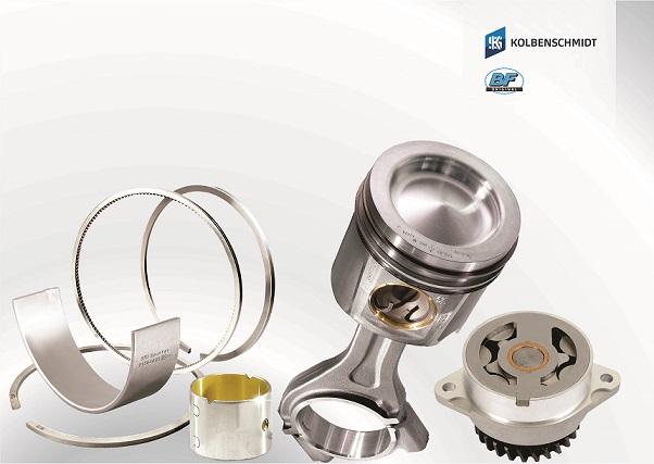 Componentes extremamente exigidos como bombas de óleo, anéis de segmento, conjunto motor (pistão + anel), bronzinas de biela, bielas e buchas de comando