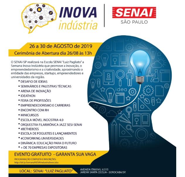 SENAI promove a semana Inova Indústria em Sorocaba