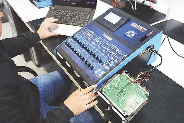 Foto 6 - Efetuando a troca do arquivo de injeção em um processador da família ST10