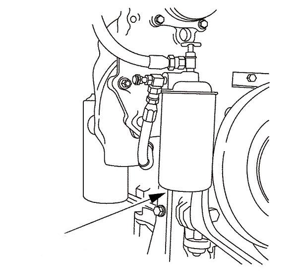Filtro do sistema de arrefecimento