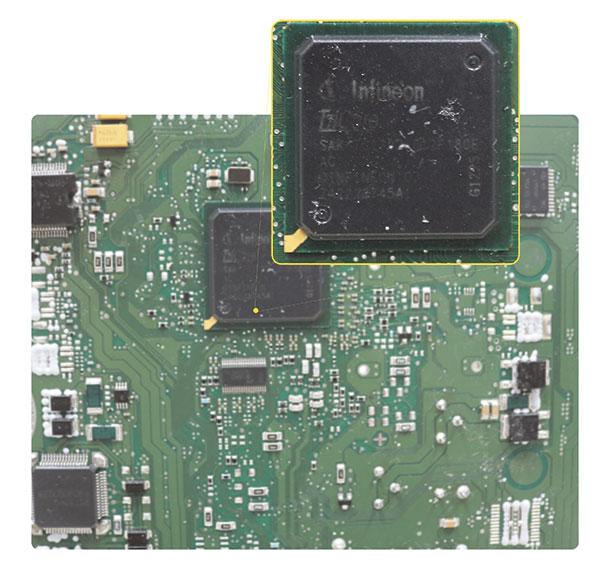 Processador BGA com memória interna