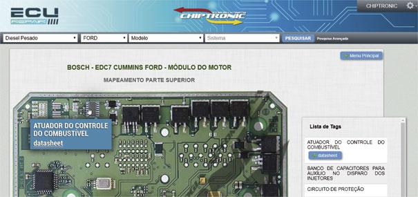 C.I. responsável pelo comando da MProp em um Módulo EDC07 aplicado em um motor Cummins