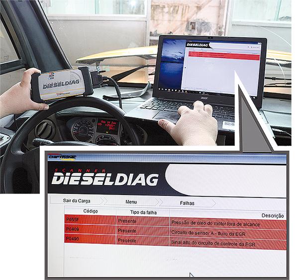 Código de falha na EGR via Scanner para linha Diesel, em IVECO Cityclass 70C17