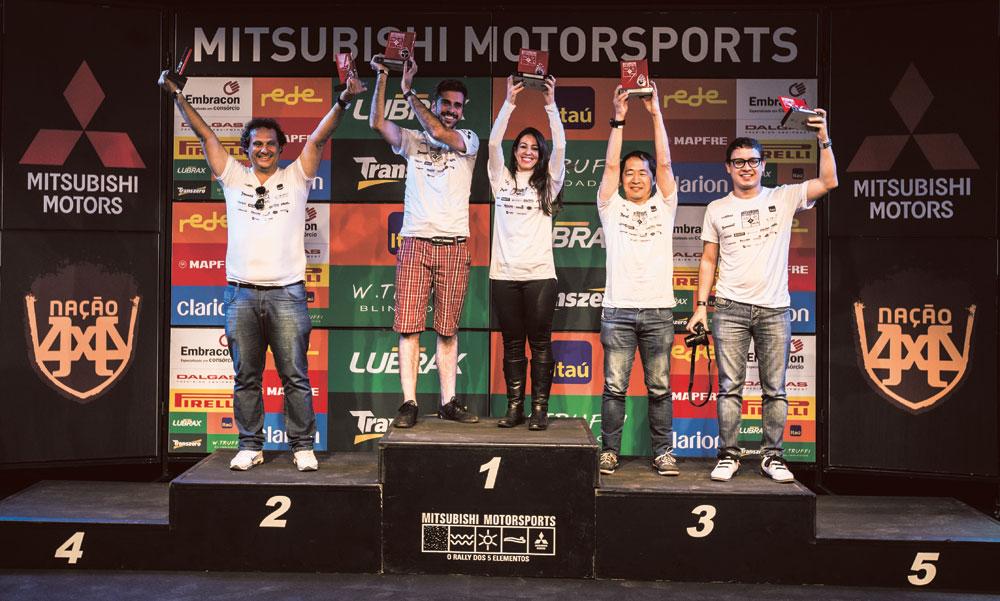 Jorge Matsushima (navegador) e Vinícius Montoia (piloto), do Jornal Oficina Brasil, ficaram em terceiro lugar